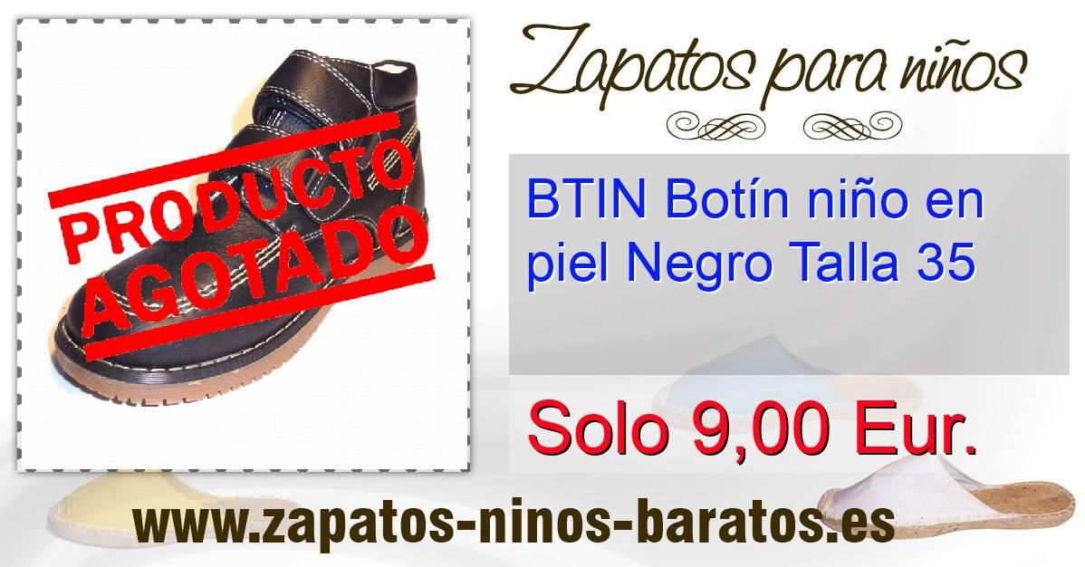 Btin bot n ni o en piel negro talla 35 - Zapatos de seguridad baratos ...
