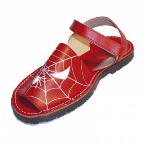 Imagen 624_Avarca - Menorquina piel niño Spiderman Talla 25